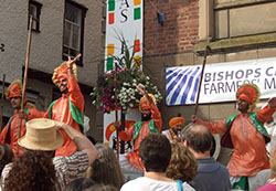 Bangra dancers at the Michaelmas Fair 2008